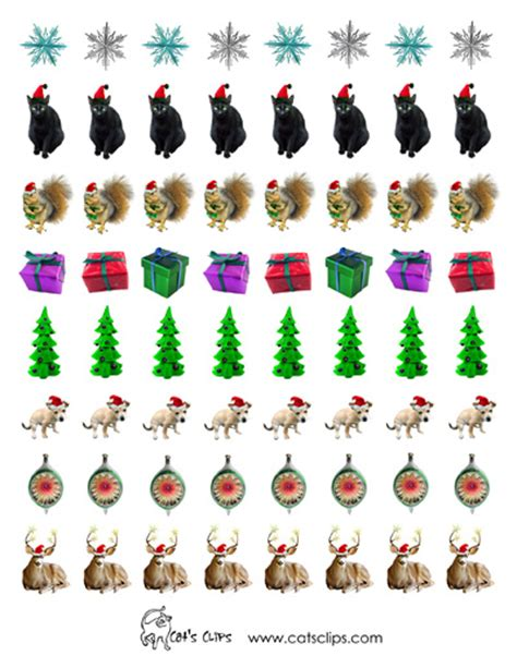 printable christmas decals free printable stickers