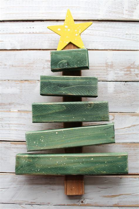 simple xmas wood tree from scrap wood a and a glue gun