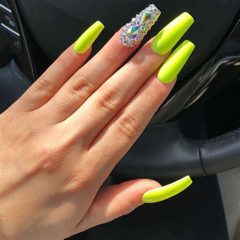 neon color nails neon green nails nails nails acrylic nails nail