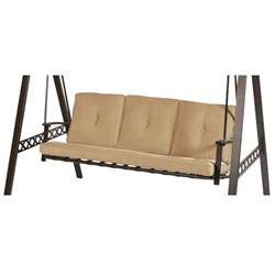 Big Lots Pergola by Lowes 3 Person Swing Replacement Cushion Beige Garden Winds