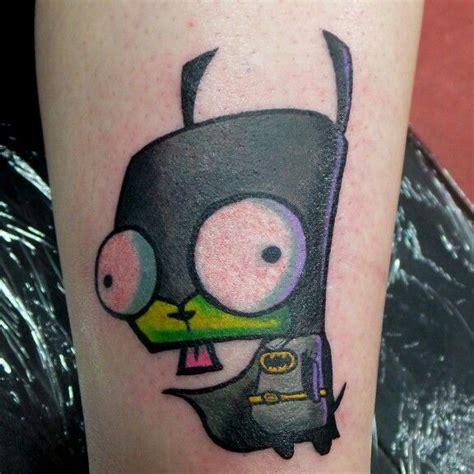 tattoo on aguero arm invader zim batman gir cartoon tattoo by marco aguero