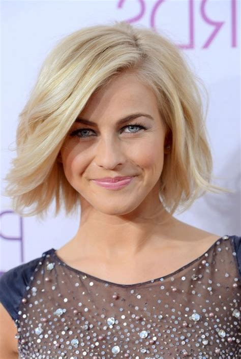haircuts tousled bob julianne hough short hairstyle blonde roots on tousled