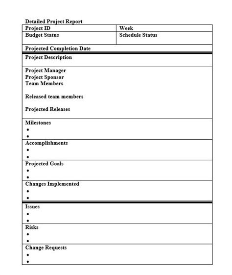 simple status report template status report template 27 exles you can free