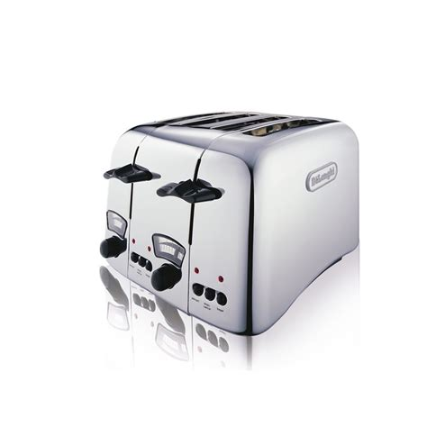 4 Slice Toasters On Sale Delonghi Argento 4 Slice Retro Toaster Chrome Ct04c Uk