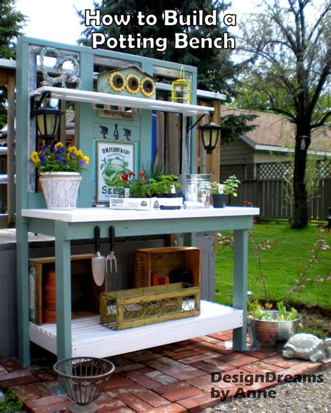 build a potting bench how to build a potting bench mix of old new materials