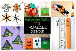 Simple Kids Halloween Crafts - 12 halloween crafts for kids using popsicle sticks buggy and buddy