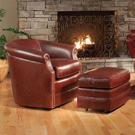swivel accent chair with ottoman smith brothers accent chairs and ottomans sb 820l 56