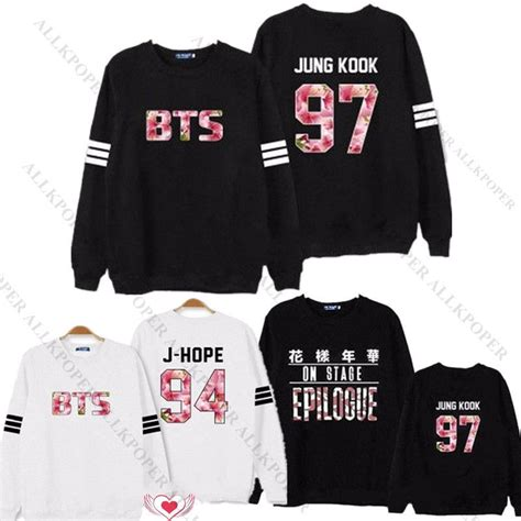 Hoodie Jumper Kpop Bangtan Boys Bts Logo Besar 1 kpop bts sweatershirt bangtan boys in bloom sweater army