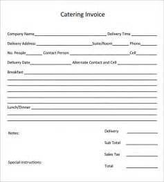 Catering Template Free by Catering Invoice Template 10 Free Documents In Pdf