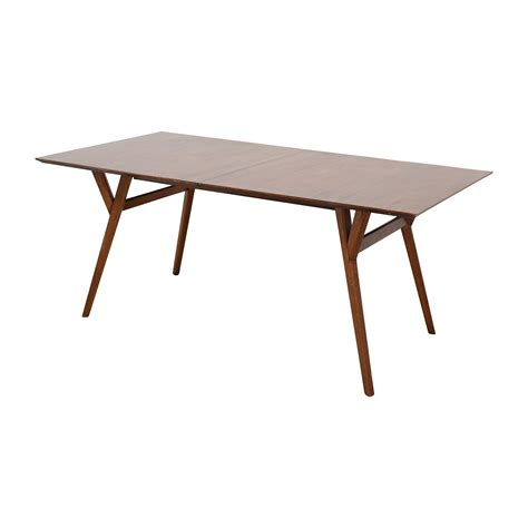 mid century expandable dining table west elm 63 off west elm west elm mid century large expandable