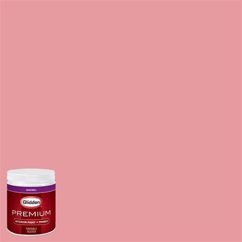 glidden premium 8 oz hdgr49u florida pink eggshell interior paint with primer tester hdgr49up