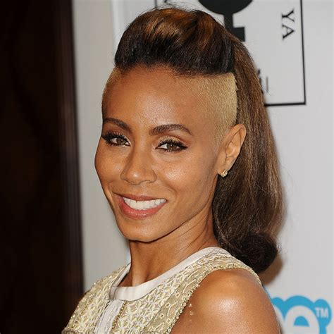 jada short hairstyles over the years jada pinkett smith with a shaved head popsugar beauty