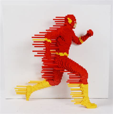 size legos see the flash batman and more dc comics characters in