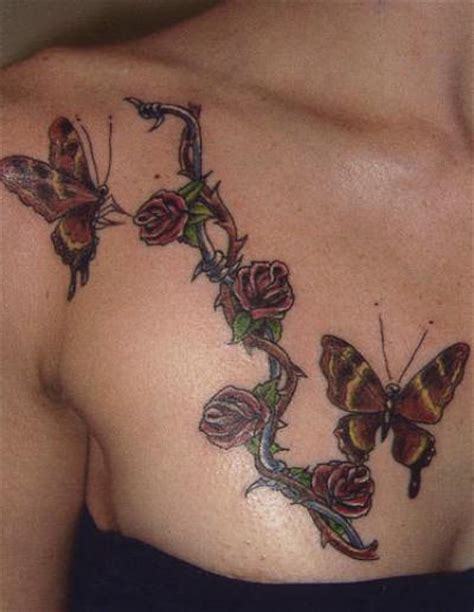 rose with vine tattoos tattoos on breast all about 24