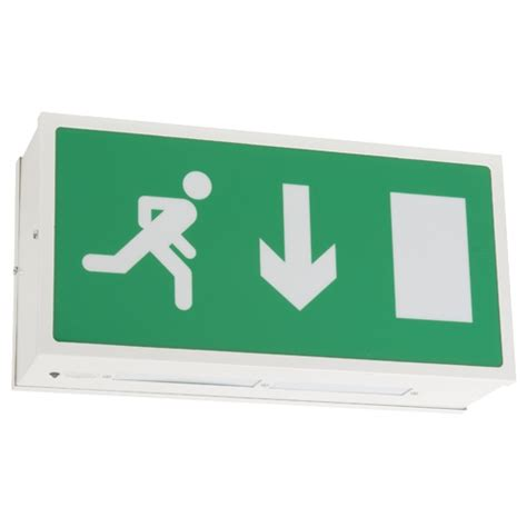 exit sign light box sided ceiling mounted exit sign exit box