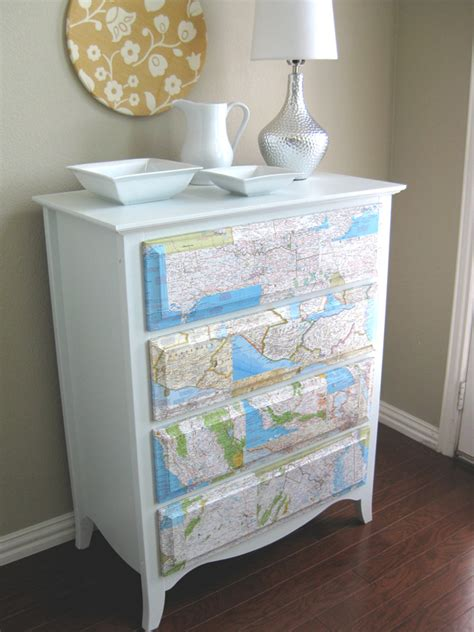 Mod Podge Dresser Ideas by How To Rev An Dresser With Maps Freshome
