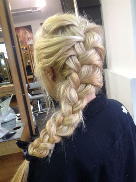 loose back braid loose french braid hair and make up pinterest