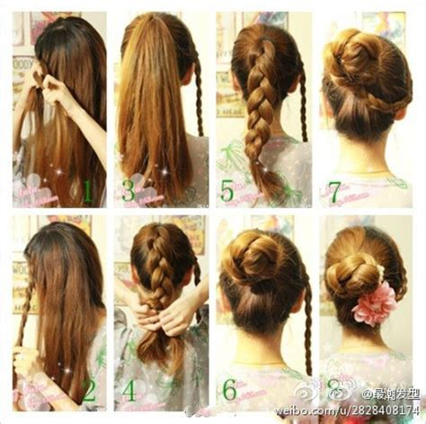 cool and easy hairstyles step by step 编发发型图片 百度知道