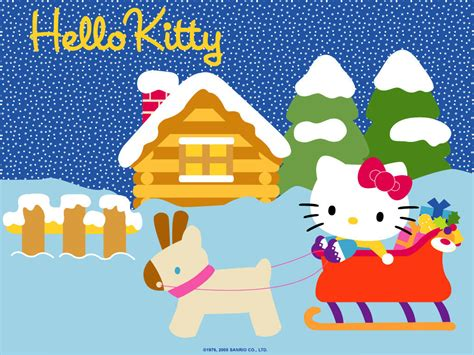 hello kitty christmas wallpaper free hd free desktop background hello kitty desktop background