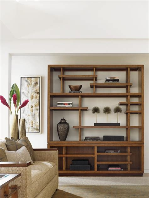 living room display shelves create a room of balance and zen tranquility with this pan asian inspired display shelf the