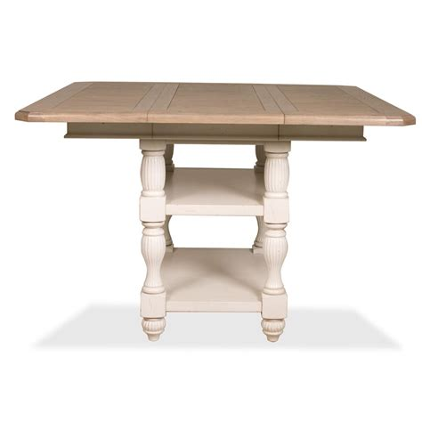 Height Dining Table Riverside 32554 Coventry Two Tone Counter Height Dining Table Homeclick