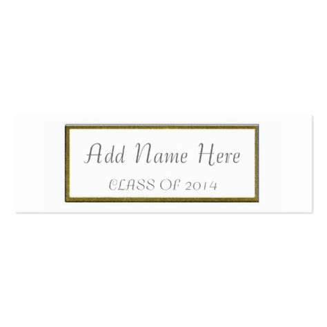 template for business name card graduation name card double sided mini business cards