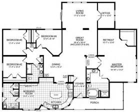 floor plans for 4 bedroom houses modular home floor plans 4 bedrooms modular housing