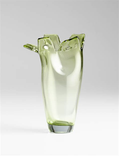 Small Vases by Small Chevel Green Glass Vase By Cyan Design