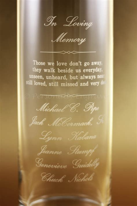 Engraved Vase Memorial Candle Vase Floating Candle In A By Personallyengrave