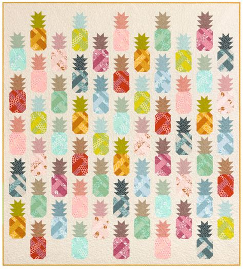 Pineapple Quilt Template by Pineapple Farm Designer Pattern Robert Kaufman Fabric Company