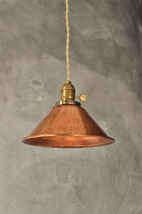 Industrial Pendant L W Weathered Copper L Shade Copper Pendant Light Shade
