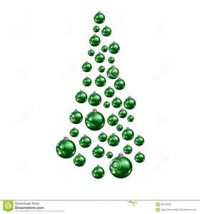 christmas tree made of suspended green christmas balls
