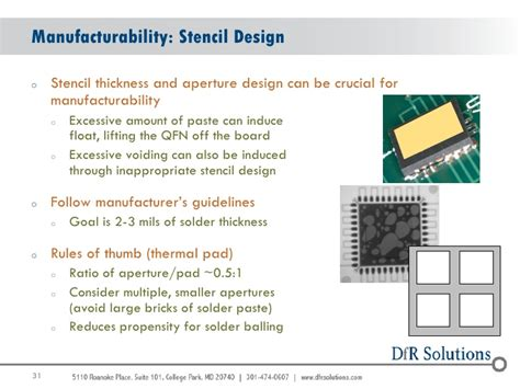 design manufacturability guidelines manufacturability reliability challenges with qfn