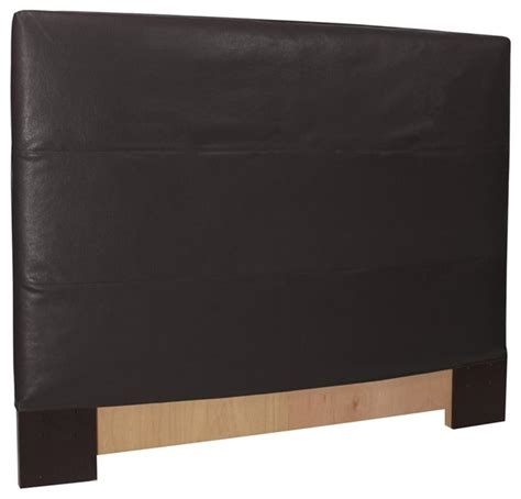 Black Leather Headboard Black Faux Leather Slipcovered Headboard Contemporary Headboards By Fratantoni Lifestyles