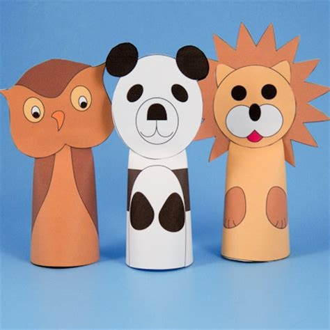 Make Paper Puppets - make animals with images