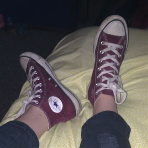 Sweater Converse Shoes Maroon 47 converse shoes maroon high top converse from