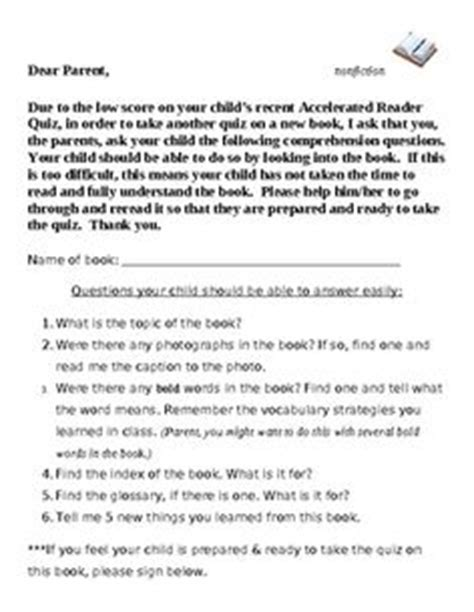 Parent Letter Explaining Accelerated Reader Pin By Julie Kramer On Classroom
