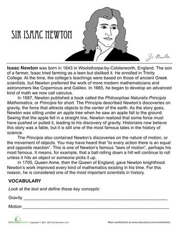 biography of isaac newton book pdf isaac newton biography worksheets cycling and homeschool