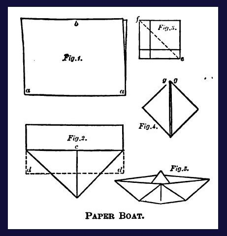 How To Make A Boat In Paper - essential bygone housewifery
