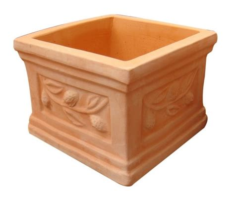 Square Terracotta Planters by Outdoor Terracotta Pottery Square Pots Nam Chan Pottery