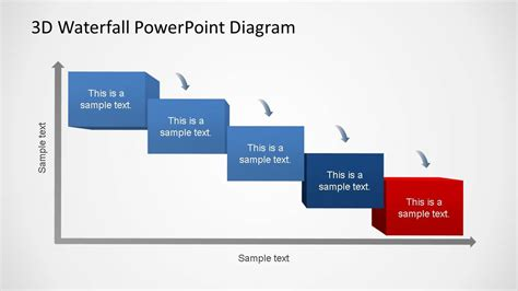 3d Generic Waterfall Powerpoint Diagram Slidemodel Waterfall Diagram Powerpoint