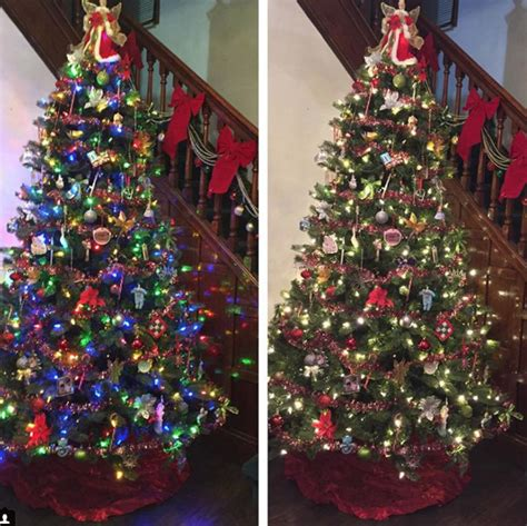color changing tree lights color changing trees alternate between white or