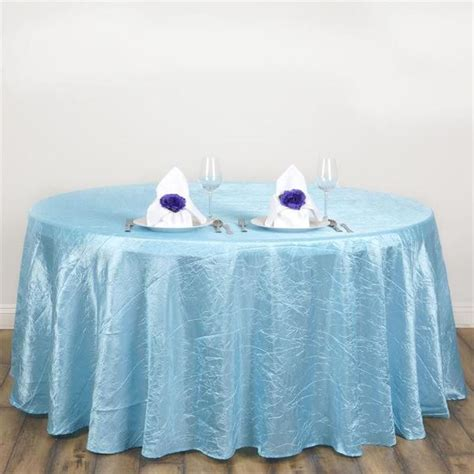 light blue pintuck tablecloth 117 quot crinkle taffeta tablecloth wedding