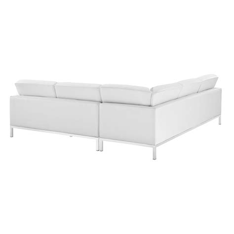 Leather L Shaped Sectional Sofa Bateman Leather L Shaped Sectional Sofa Modern Furniture Brickell Collection