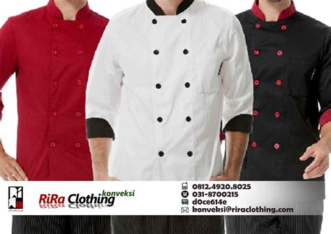 desain baju chef konveksi baju koki riraclothing