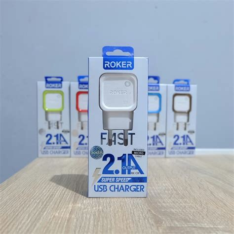Charger Roker 2 1 charger roker 2 1a v8 micro usb fast travel charger jadi