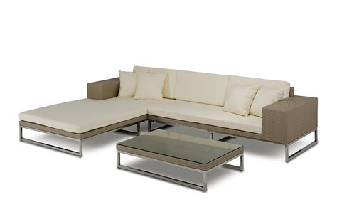 Patio Furniture Sectional Limba Modern Patio Sectional Sofa