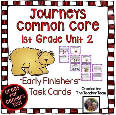 Journeys Gift Card Pin - journeys 1st grade unit 2 early finishers task cards a well early finishers and