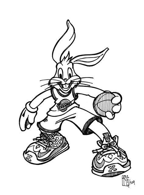 space jam free coloring pages