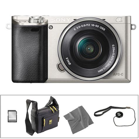 Sony Mirrorless A6000 Kit 16 50mm sony alpha a6000 mirrorless digital with 16 50mm lens basic kit silver